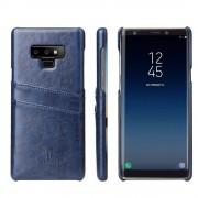 Galaxy Note 9 cover case med kortholder blå Mobil tilbehør