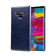 Chairman retro læder cover blå Galaxy Note 9 Mobil tilbehør