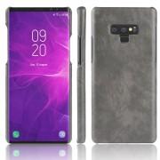Galaxy Note 9 stilfuld læder case grå Mobil tilbehør
