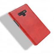 Galaxy Note 9 stilfuld læder case rød Mobil tilbehør