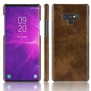 Galaxy Note 9 stilfuld læder case mørkebrun Mobil tilbehør