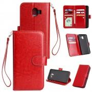 rød Cover med multi lommer Galaxy J4 (2018) Mobil tilbehør