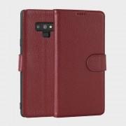 Premium læder cover rød Galaxy Note 9 Mobil tilbehør