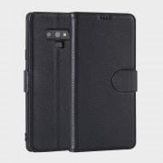 Premium læder cover blå Galaxy Note 9 Mobil tilbehør