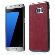 SAMSUNG GALAXY S7 EDGE bag cover i split læder, rød Mobiltelefon tilbehør