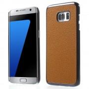 SAMSUNG GALAXY S7 EDGE bag cover i split læder, brun Mobiltelefon tilbehør