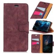 vinrød Vintage læder cover Galaxy A7 (2018) Mobil tilbehør