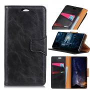 sort Elegant læder cover Galaxy A7 (2018) Mobil tilbehør