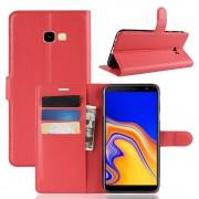 rød Igo flip cover Galaxy J4 plus (2018) Mobil tilbehør