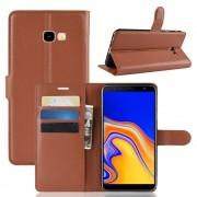 brun Igo flip cover Galaxy J4 plus (2018) Mobil tilbehør