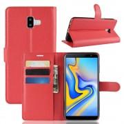Galaxy J6+ (2018) Igo flip cover rød Mobil tilbehør
