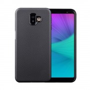 Galaxy J6 (2018) carbon tpu cover sort Mobil tilbehør