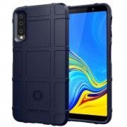 Viser Galaxy A7 (2018) Rugged shield cover blå