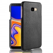 Galaxy J4 plus 2018 sort cover case croco Mobil tilbehør