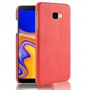 Galaxy J4 plus 2018 rød cover case croco Mobil tilbehør