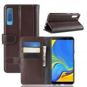 brun Flip cover ægte læder Galaxy A7 (2018) Mobil tilbehør
