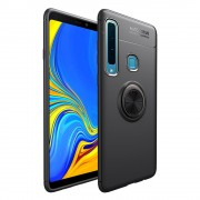 Galaxy A9 2018 sort cover med ring holder Mobil tilbehør