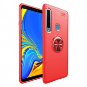 Galaxy A9 2018 rød cover med ring holder Mobil tilbehør