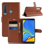 brun Igo flip cover Galaxy A9 2018 Mobil tilbehør