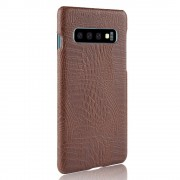 Viser Galaxy S10 case croco brun