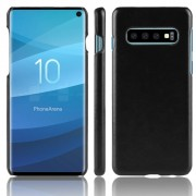 Viser Elegant læder case Galaxy S10 sort