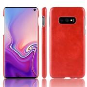 Galaxy S10e Elegant læder case rød Mobil tilbehør