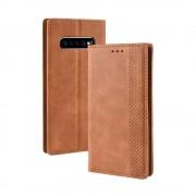 brun Vintage cover Samsung S10+ Mobil tilbehør