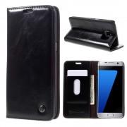 SAMSUNG GALAXY S7 EDGE wax læder cover Mobiltelefon tilbehør