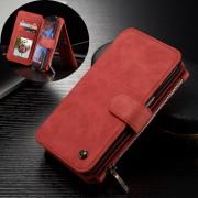 SAMSUNG GALAXY S7 EDGE luksus læder pung cover, rød Mobiltelefon tilbehør