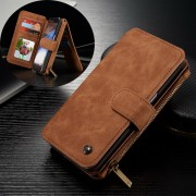SAMSUNG GALAXY S7 EDGE luksus læder pung cover, brun Mobiltelefon tilbehør