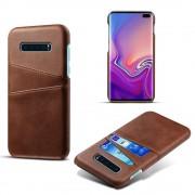 brun Case med lommer Samsung S10 plus Mobil tilbehør