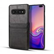 Retro case med lommer Galaxy S10 sort Mobil tilbehør