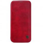 SAMSUNG GALAXY S7 EDGE læder cover i business stil, rød Mobiltelefon tilbehør