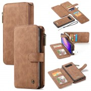 brun 2 i 1 cover med multi lommer Galaxy S10 Mobil tilbehør