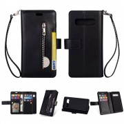 sort Etui med multi lommer Samsung S10 Mobil tilbehør