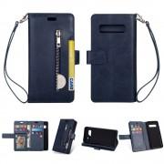 blå Etui med multi lommer Samsung S10 Mobil tilbehør