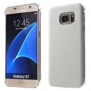 SAMSUNG GALAXY S7 læder bag cover, hvid Mobiltelefon tilbehør