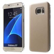 SAMSUNG GALAXY S7 læder bag cover, beige Mobiltelefon tilbehør