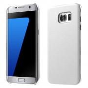 SAMSUNG GALAXY S7 EDGE læder bag cover, hvid Mobiltelefon tilbehør