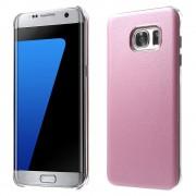 SAMSUNG GALAXY S7 EDGE læder bag cover, pink Mobiltelefon tilbehør