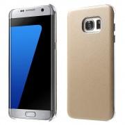 SAMSUNG GALAXY S7 EDGE læder bag cover, beige Mobiltelefon tilbehør