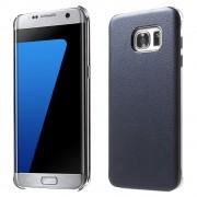 SAMSUNG GALAXY S7 EDGE læder bag cover, blå Mobiltelefon tilbehør