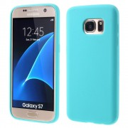 SAMSUNG GALAXY S7 silikone bag cover lyseblå, Mobiltelefon tilbehør
