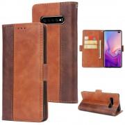 brun S-line flip cover Galaxy S10+ Mobil tilbehør