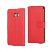 SAMSUNG GALAXY S7 EDGE cover split læder rød Mobiltelefon tilbehør