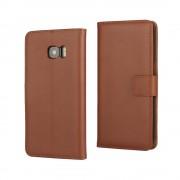 SAMSUNG GALAXY S7 EDGE cover split læder brun Mobiltelefon tilbehør