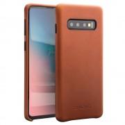 brun Elegant læder case Samsung S10 plus Mobil tilbehør