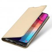guld Slim flip cover Samsung A50 Mobil tilbehør
