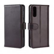 brun Flip cover ægte læder Samsung A50 Mobil tilbehør