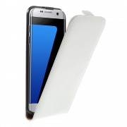 SAMSUNG GALAXY S7 EDGE cover vertikal flip hvid Mobil tilbehør